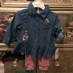 Lucky Brand matching set 12M